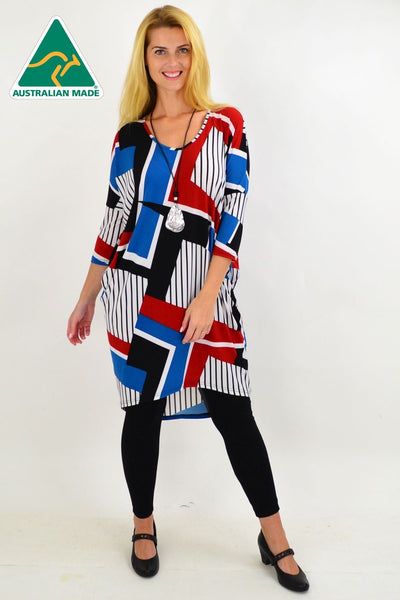 Lines & Stripes Hi Low Tunic Dress | I Love Tunics | Tunic Tops | Tunic | Tunic Dresses  | womens clothing online