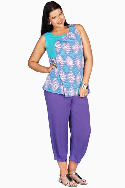 Purple Rayon Kita Ku Pants | I Love Tunics | Tunic Tops | Tunic | Tunic Dresses  | womens clothing online