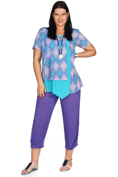 Purple Rayon Kita Ku Pants - at I Love Tunics @ www.ilovetunics.com = Number One! Tunics Destination