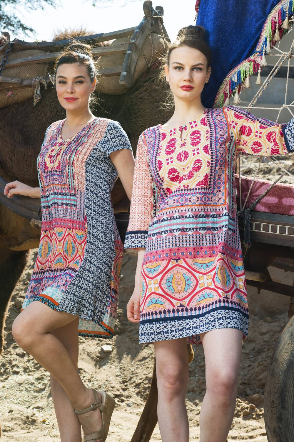 Olympia Print Tunic Dress - at I Love Tunics @ www.ilovetunics.com = Number One! Tunics Destination