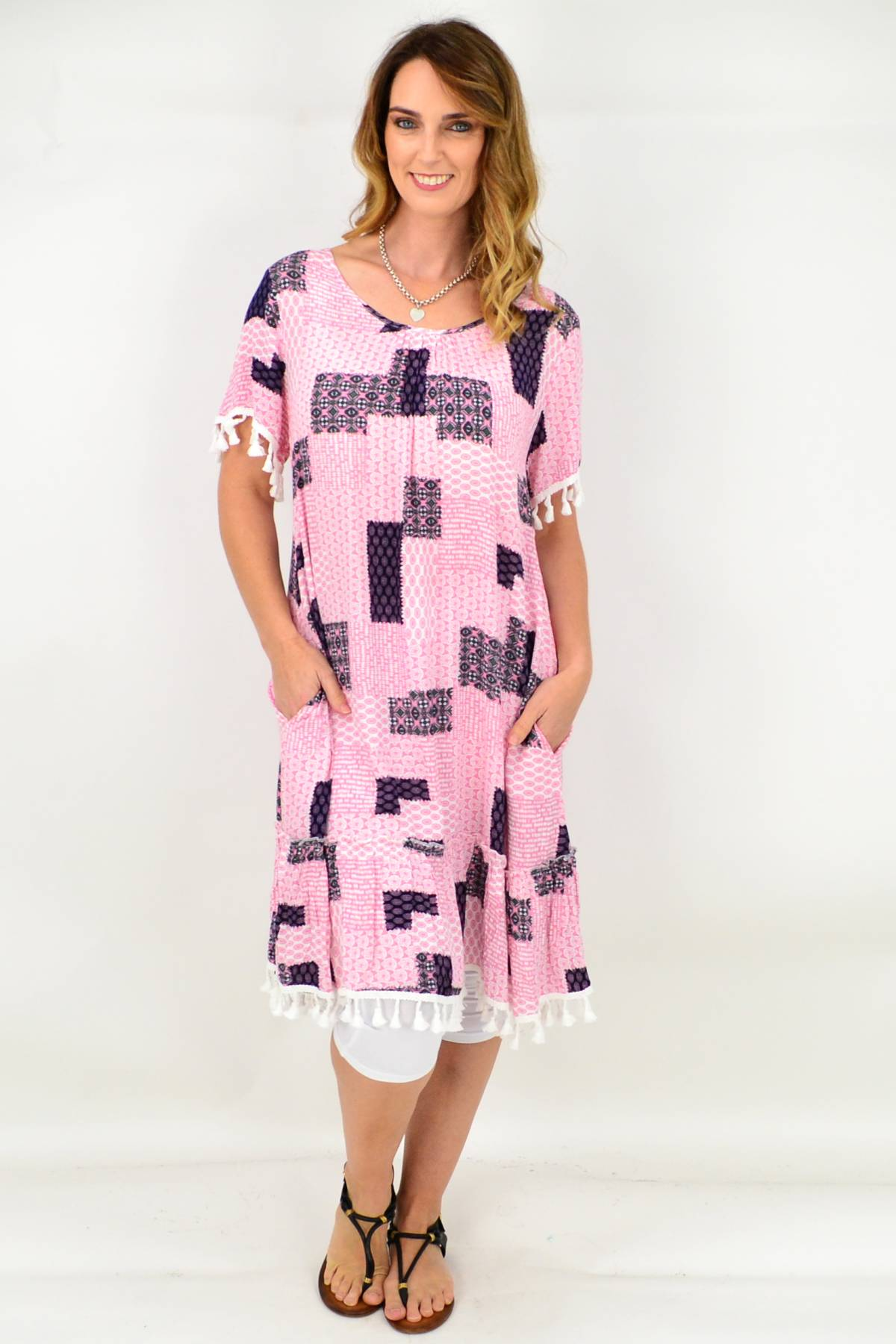 Pink Dress by CKM available at www.ilovetunics.com