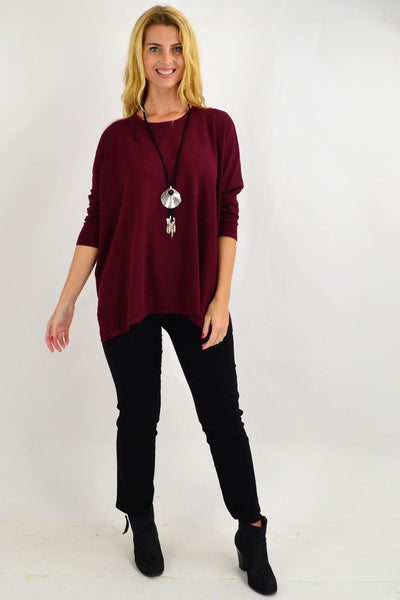 Plum Oversized Tunic Top