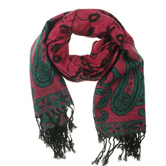 Pink Green Pashmina Scarf - at I Love Tunics @ www.ilovetunics.com = Number One! Tunics Destination
