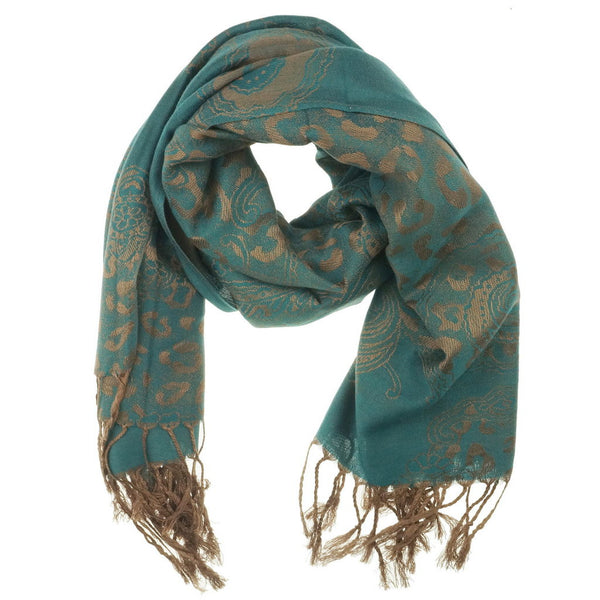 Dark Teal Goden Pashmina Scarf | I Love Tunics | Tunic Tops | Tunic | Tunic Dresses  | womens clothing online