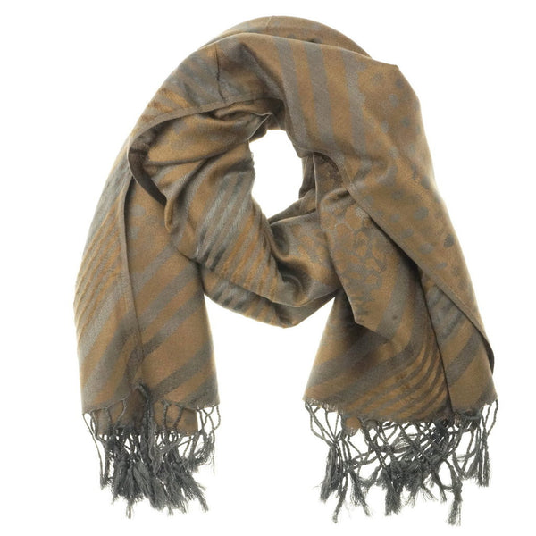 Coffee Golden Pashmina Scarf