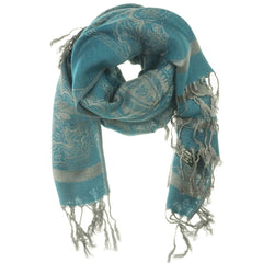 Dark Teal Paisley Pashmina Scarf | I Love Tunics | Tunic Tops | Tunic Dresses | Women's Tops | Plus Size Australia | Mature Fashion