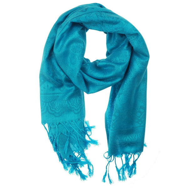 Electric Blue Pashmina Scarf - at I Love Tunics @ www.ilovetunics.com = Number One! Tunics Destination