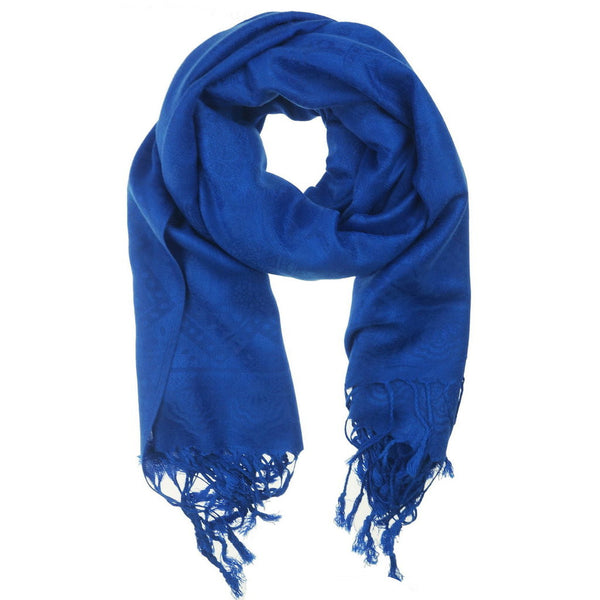 Royal Blue Pashmina Scarf - at I Love Tunics @ www.ilovetunics.com = Number One! Tunics Destination