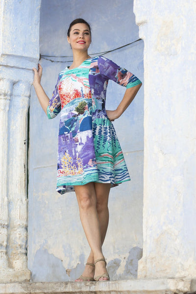 Santorini Tunic Dress by Orientique - at I Love Tunics @ www.ilovetunics.com = Number One! Tunics Destination
