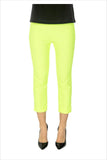 Lime Yellow 3/4 Pants - at I Love Tunics @ www.ilovetunics.com = Number One! Tunics Destination