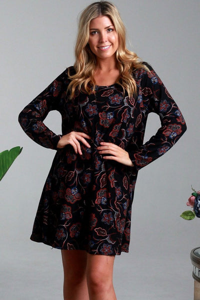Nora Leaf Long Sleeve Tunic Dress | I Love Tunics | Tunic Tops | Tunic Dresses | Women's Tops | Plus Size Australia | Mature Fashion