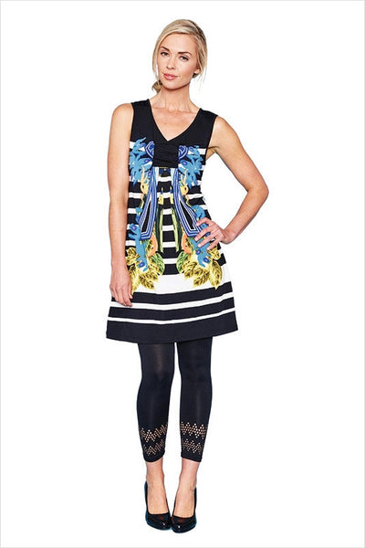 Blue Flower Threadz Tunic