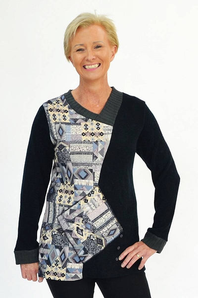 Diamond Pattern Tunic | I Love Tunics | Tunic Tops | Tunic Dresses | Women's Tops | Plus Size Australia | Mature Fashion