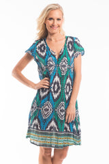 Moroccan Pattern Tunic Dress - at I Love Tunics @ www.ilovetunics.com = Number One! Tunics Destination
