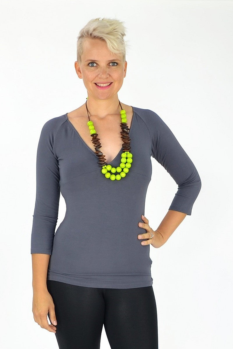 Bamboo Grey Under Basic | I Love Tunics | Tunic Tops | Tunic Dresses | Women's Tops | Plus Size Australia | Mature Fashion