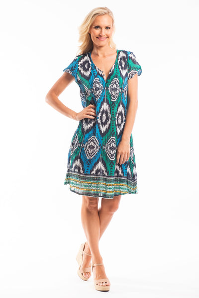 Moroccan Pattern Tunic Dress