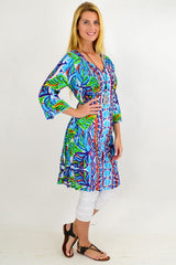 Blue Pattern One Summer Tunic Dress | I Love Tunics | Tunic Tops | Tunic | Tunic Dresses  | womens clothing online
