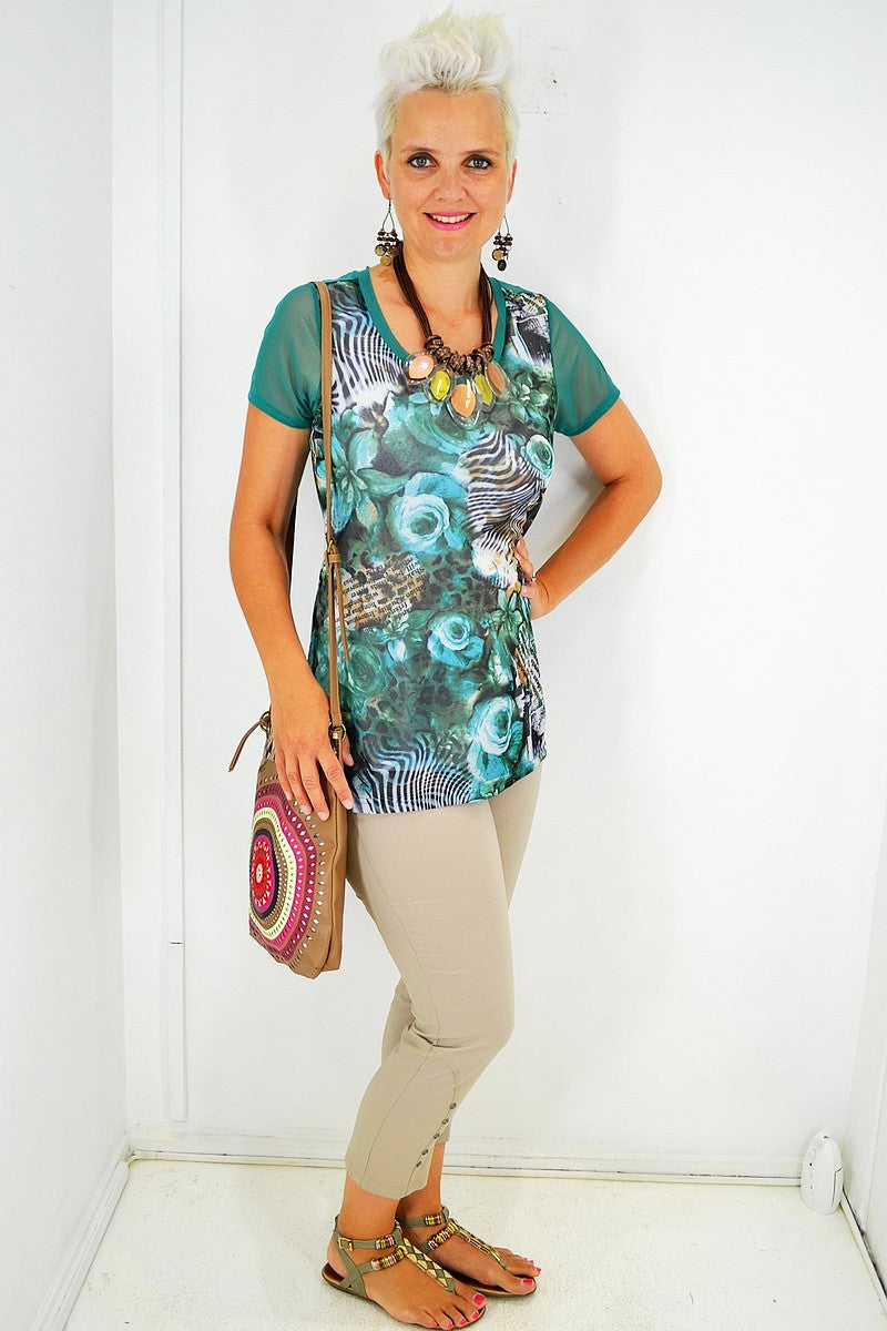 Green Friends Forever Tunic - at I Love Tunics @ www.ilovetunics.com = Number One! Tunics Destination