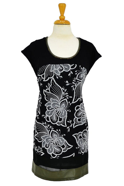 Black White Floral Tunic | I Love Tunics | Tunic Tops | Tunic | Tunic Dresses  | womens clothing online