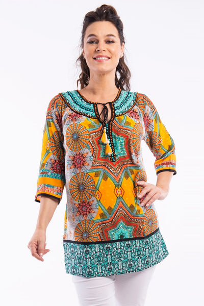 Ambrogio Kurta Tunic by Orientique | I Love Tunics | Tunic Tops | Tunic Dresses | Women's Tops | Plus Size Australia | Mature Fashion