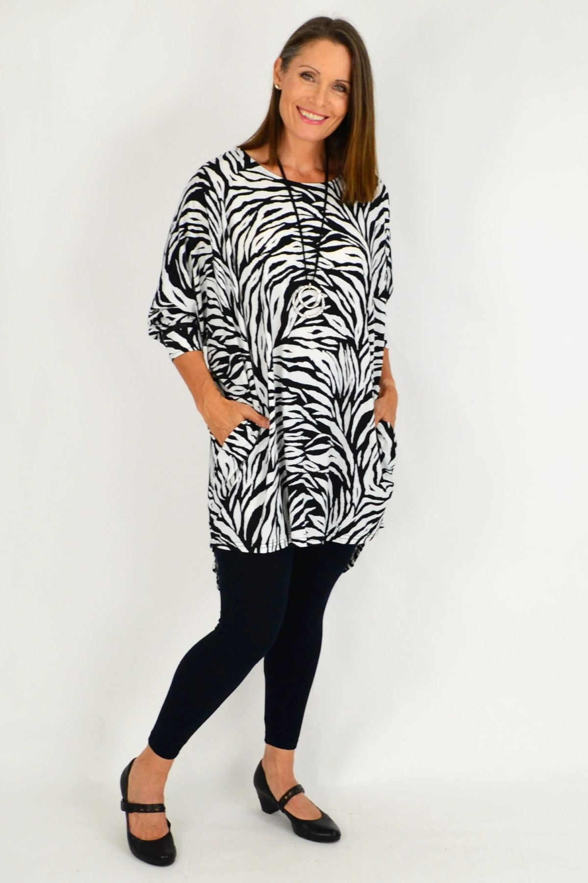 Relaxed fit tunic top