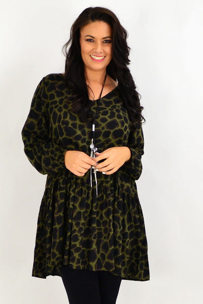 Animal Print Tunic Top by Threadz | I Love Tunics | Tunic Tops | Tunic | Tunic Dresses  | womens clothing online