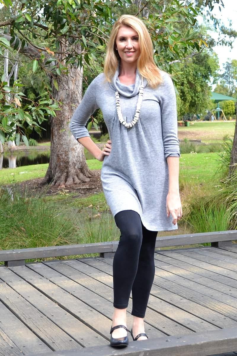 Gorgeous Grey Tunic - at I Love Tunics @ www.ilovetunics.com = Number One! Tunics Destination