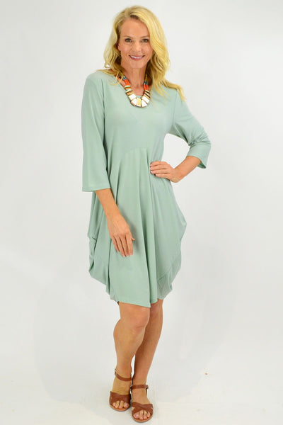 Moss Green Sophia Tunic Dress