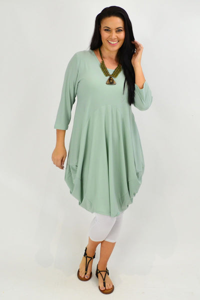 Moss Green Sophia Tunic Dress - I Love Tunics