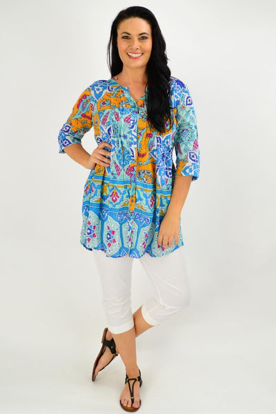 Celtic Aqua Tunic Shirt