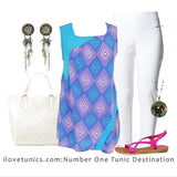 Aquarius Sleeveless Tunic - at I Love Tunics @ www.ilovetunics.com = Number One! Tunics Destination