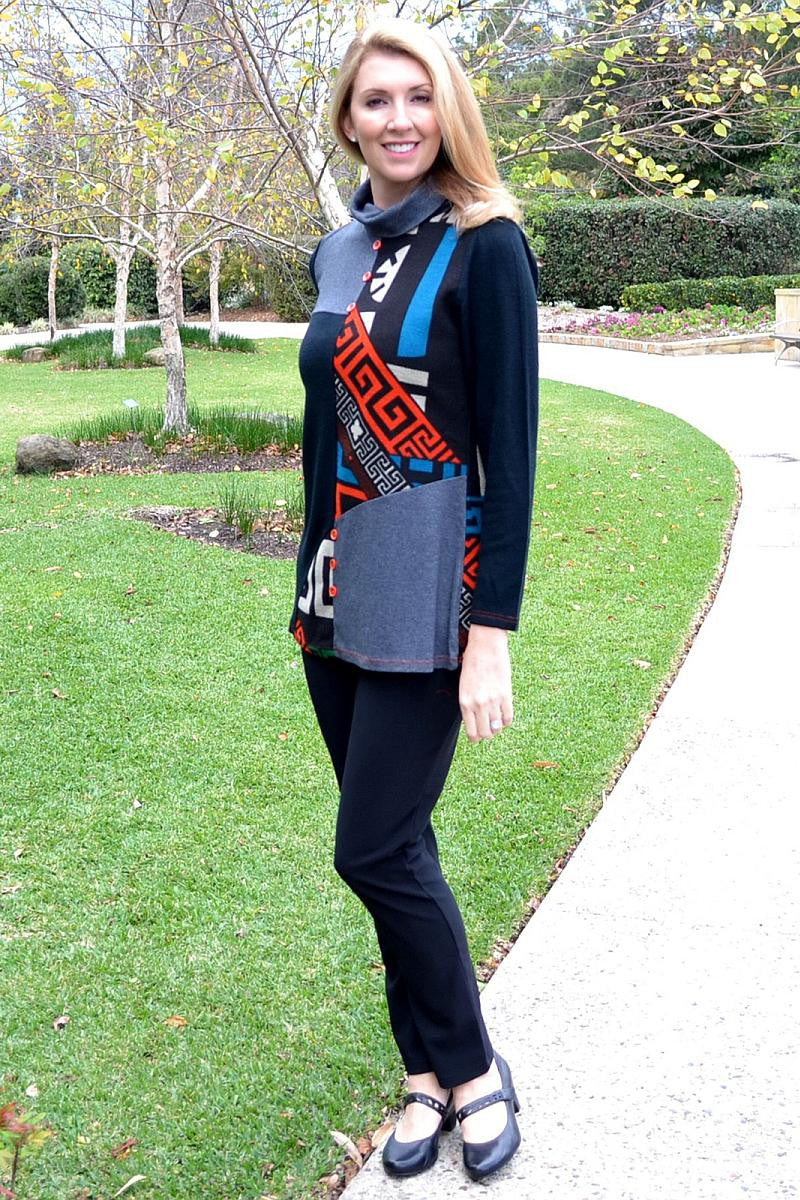 Orange Aztec Tunic - I Love Tunics @ www.ilovetunics.com