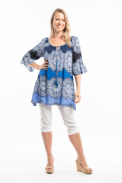 Easy Fit Ocean Wave Tunic Top