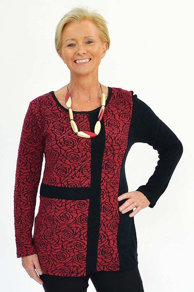 Red Rose Tunic | I Love Tunics | Tunic Tops | Tunic | Tunic Dresses  | womens clothing online