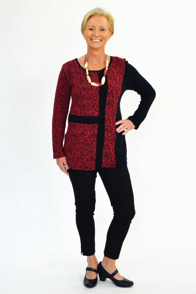 Red Rose Tunic