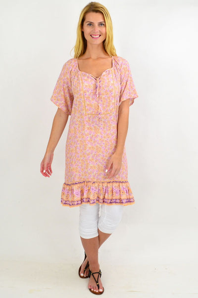 Pink Flowy Floral Tunic Top | I Love Tunics | Tunic Tops | Tunic | Tunic Dresses  | womens clothing online