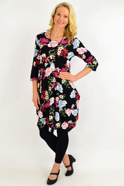 Floral Cocoon Tunic Dress