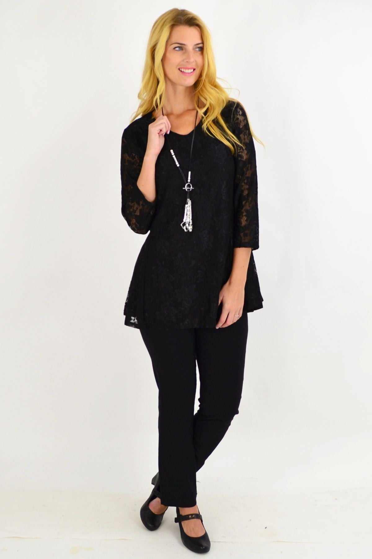 Night Out Black Lace Tunic | I Love Tunics | Tunic Tops | Tunic | Tunic Dresses  | womens clothing online
