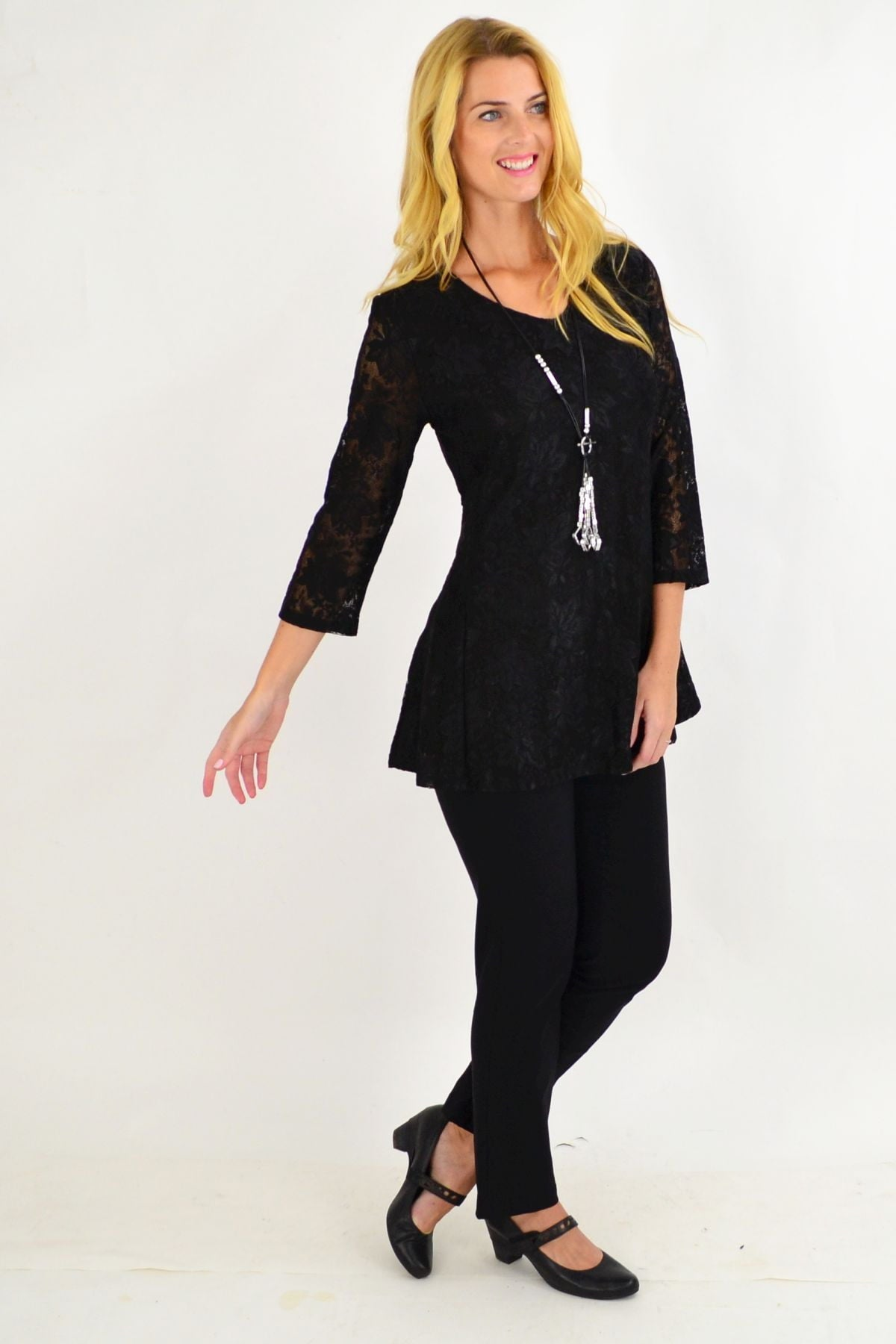 Key Hole Black Tunic Top | I Love Tunics | Tunic Tops | Tunic | Tunic Dresses  | womens clothing online