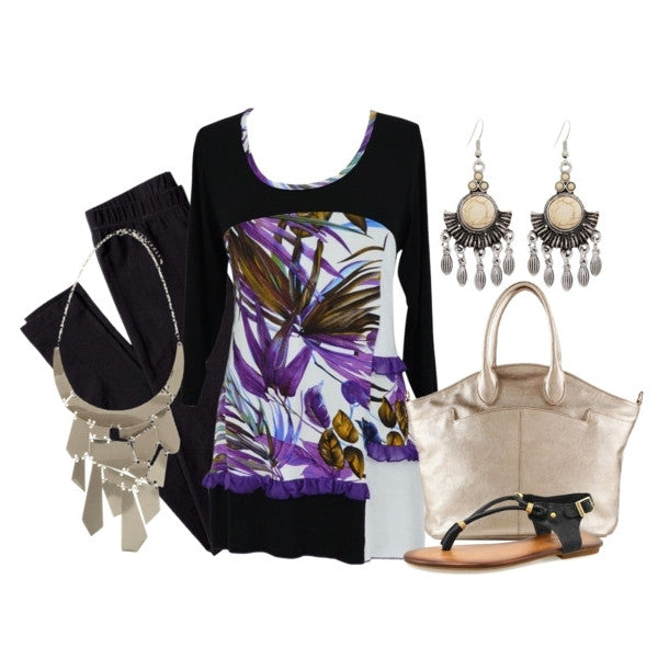 Purple Palm Tunic - at I Love Tunics @ www.ilovetunics.com = Number One! Tunics Destination