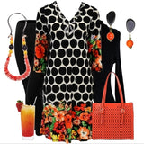 Black Spots Tunic - at I Love Tunics @ www.ilovetunics.com = Number One! Tunics Destination