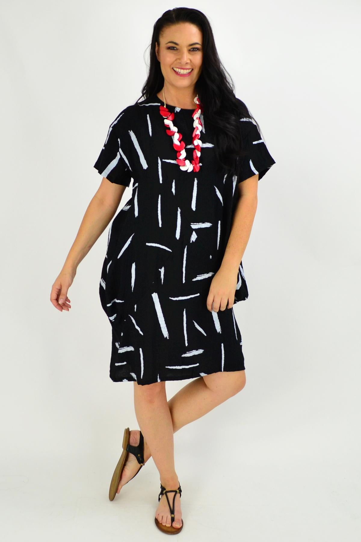 Black Brush Stroke Tunic Dress | I Love Tunics | Tunic Tops | Tunic | Tunic Dresses  | womens clothing online
