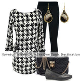 Black White Checked Tunics - at I Love Tunics @ www.ilovetunics.com = Number One! Tunics Destination