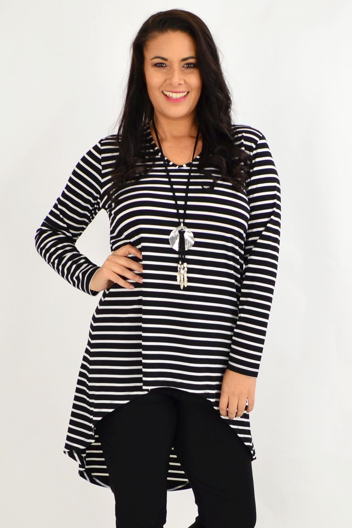 Vee Swing Stripe Tunic Top by Cordelia St | I Love Tunics | Tunic Tops | Tunic | Tunic Dresses  | womens clothing online