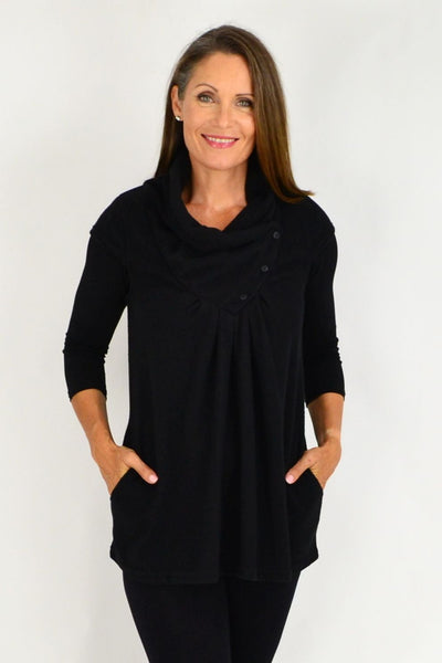 Black Sleeveless Winter Tunic | I Love Tunics | Tunic Tops | Tunic Dresses | Women's Tops | Plus Size Australia | Mature Fashion