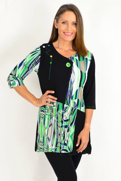 Bridget Green Tunic Top | I Love Tunics | Tunic Tops | Tunic Dresses | Women's Tops | Plus Size Australia | Mature Fashion