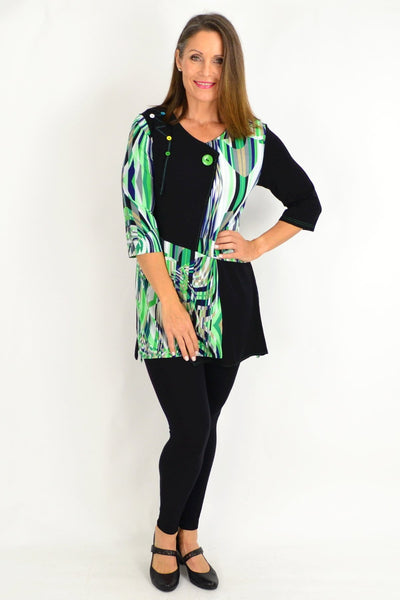 Bridget Green Tunic Top
