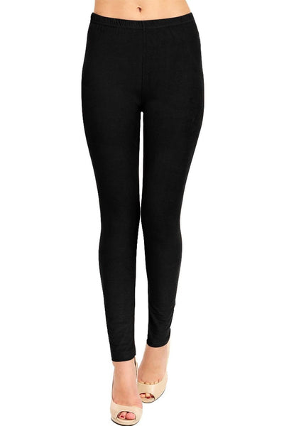 Full Length Black Cotton Leggings