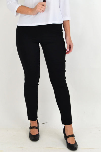 Classic Black Pencil Leg Pull on Pants