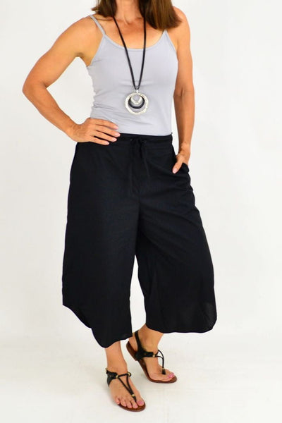 Black Yoko Wide Leg Pants